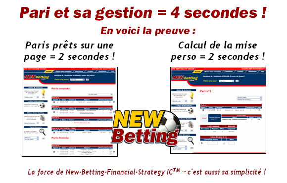Présentation des pronostics New-betting.com et de l'outils New-Betting-Financial-Strategy IC™